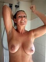 Wet MILF Shower Tits