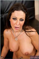 Big titted milf Amy Fisher bent over on the couch and drilled ...