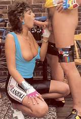 Retro Porn Seventies Bicycle Lady Receives A Sticky Facial